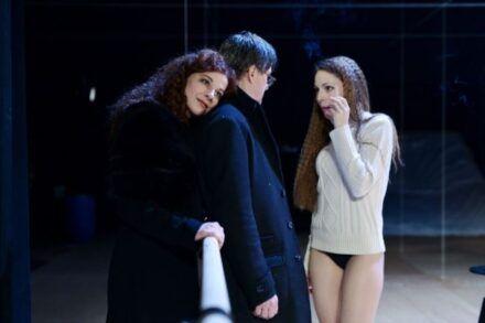 Na fotografiji: Barbara Cerar, Branko Šturbej in Iva Babić Foto: Peter Uhan