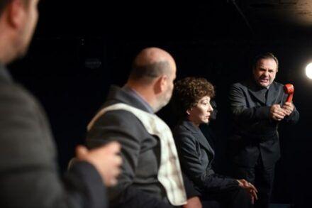 Na fotografiji: Jurij Zrnec, Jernej Šugman, Silva Čušin, Barbara Ribnikar in Bojan Emeršič Foto: Peter Uhan