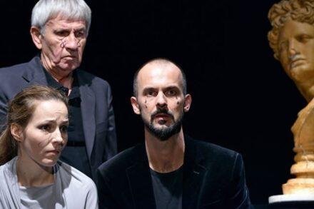 Na fotografiji: Iva Babić, Marko Okorn in Uroš Fürst Foto: Peter Uhan