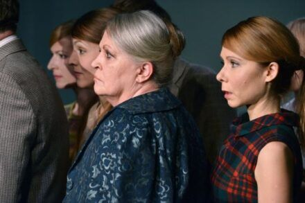 Kobo Abe: Prijatelji / Na fotografiji: Maša Derganc, Iva Babić, Katja Levstik in Saša Mihelčič Foto: Peter Uhan
